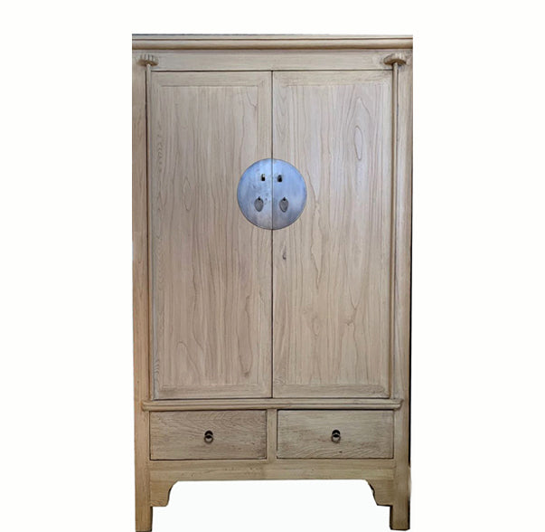 Light Wood Colored Asian Cabinet