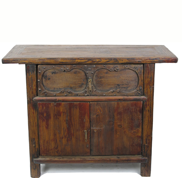 Cabinet with One Hand Carved Front Drawer