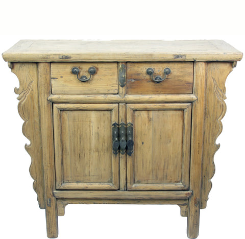 Light Color Antique Chinese Cabinet Table