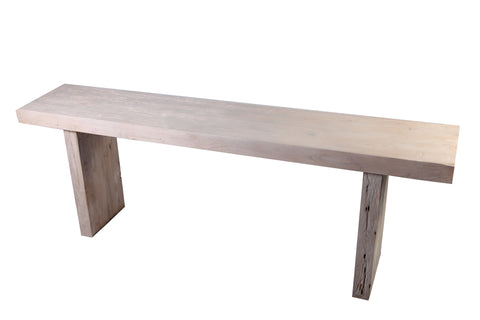 Long Modern White Teak Console Table - Dyag East
