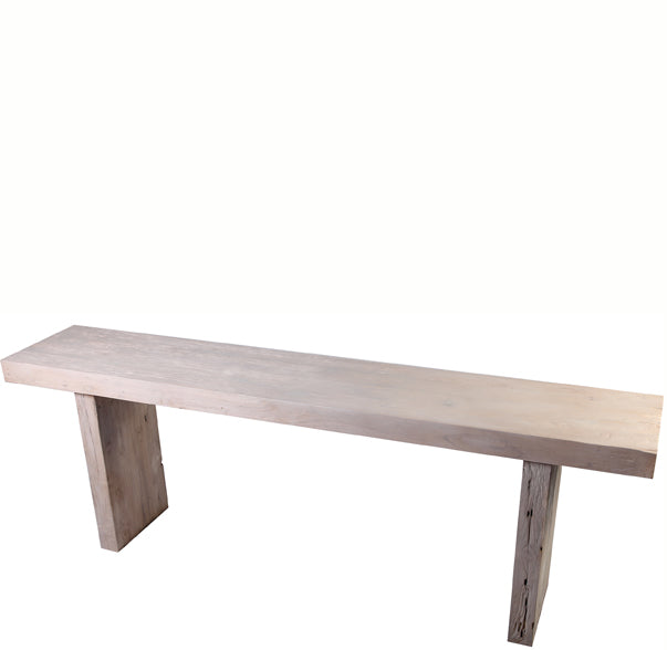 8 Feet Long Modern White Teak Console Table - Dyag East
