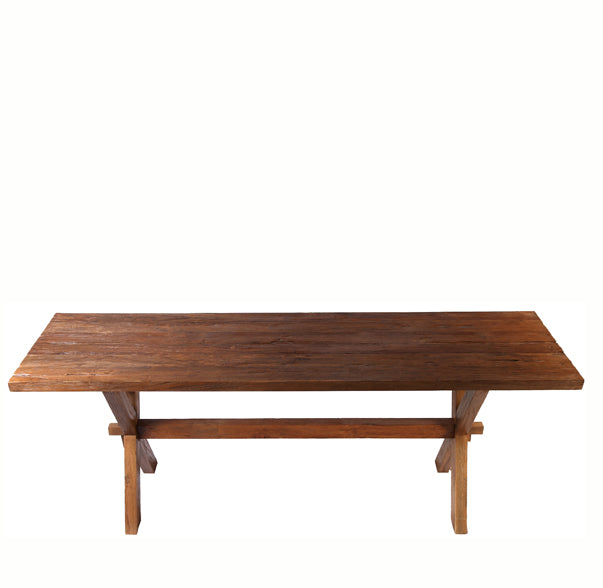 Brown Teak Farmer Table - Dyag East