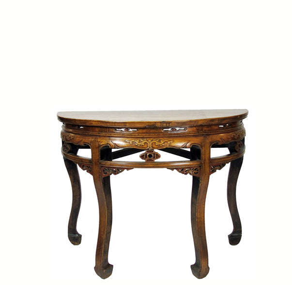 Antique Half Moon Demi Table - Dyag East