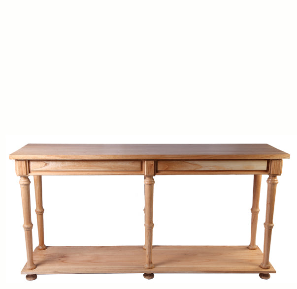 Natural Mindi Color Console Table - Dyag East