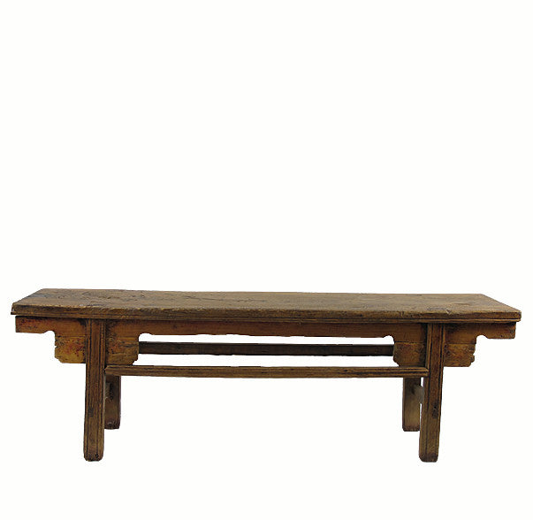 "Low Bench Console Table with Large Knot Top (67.6""W x 15.8""D x 21.3""H) - Dyag East"
