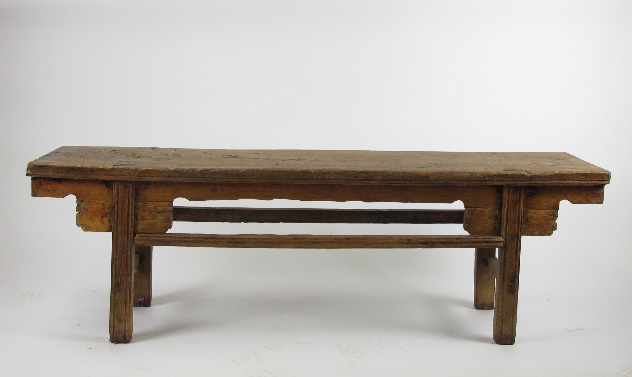 low console table. Low Bench Console Table With Large Knot Top (67.6\ E