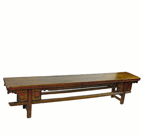 "Low Wood Bench Console Table (86.8""W x 14.8""D x 18.4""H) - Dyag East"