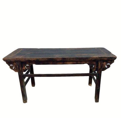 z-Antique Black Farm Table - Dyag East