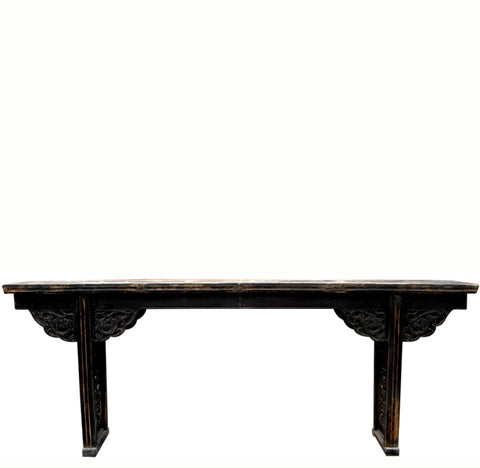 Z-Flat Top Altar Table with Carved Dragon Spandrels - Dyag East