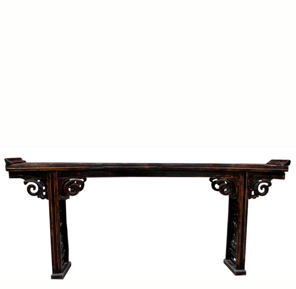 Antique Altar Console Table with Carved Phoenix Spandrels - Dyag East ... - Antique Altar Console Table With Carved Phoenix Spandrels – Dyag East