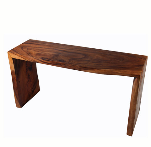 Hardwood Water Fall Live Edge Console Table 1 - Dyag East