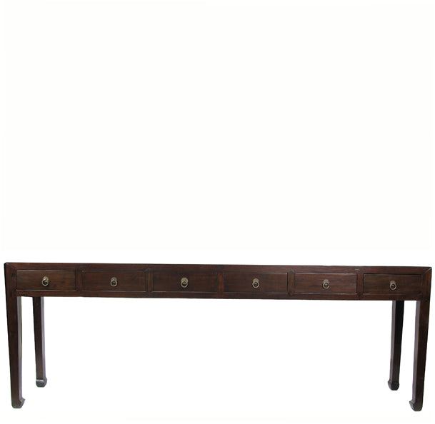Six Drawers Ming Console Table