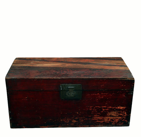 Red Antique Camphor Trunk - Dyag East