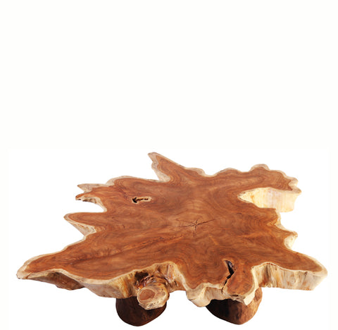 Living Edge Teak Root Coffee Table - Dyag East