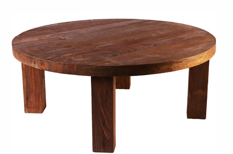 Z-Round Modern Teak Coffee Table - Dyag East