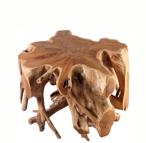 Small Round Teak Root Coffee Table - Dyag East
