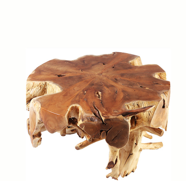 Small Round Teak Root Coffee Table 1 - Dyag East