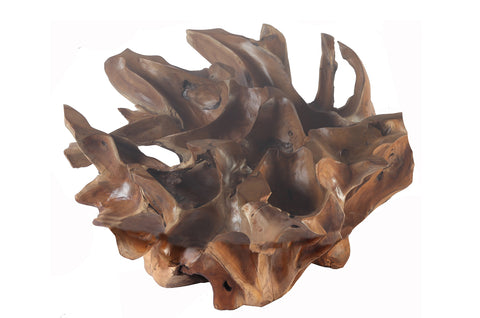 Sculptured Round Teak Root Coffee Table Base - Dyag East