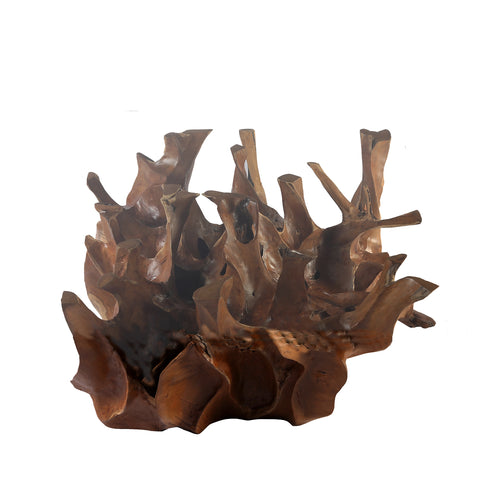 Sculptured Square Teak Root Coffee Table Base - Dyag East