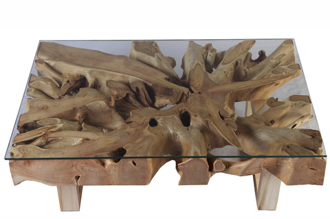 Rectangular Teak Root Coffee Table - Dyag East