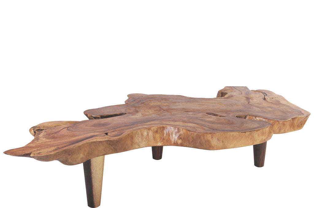 "72"" Inch Long One Slab Living Edge Coffee Table"