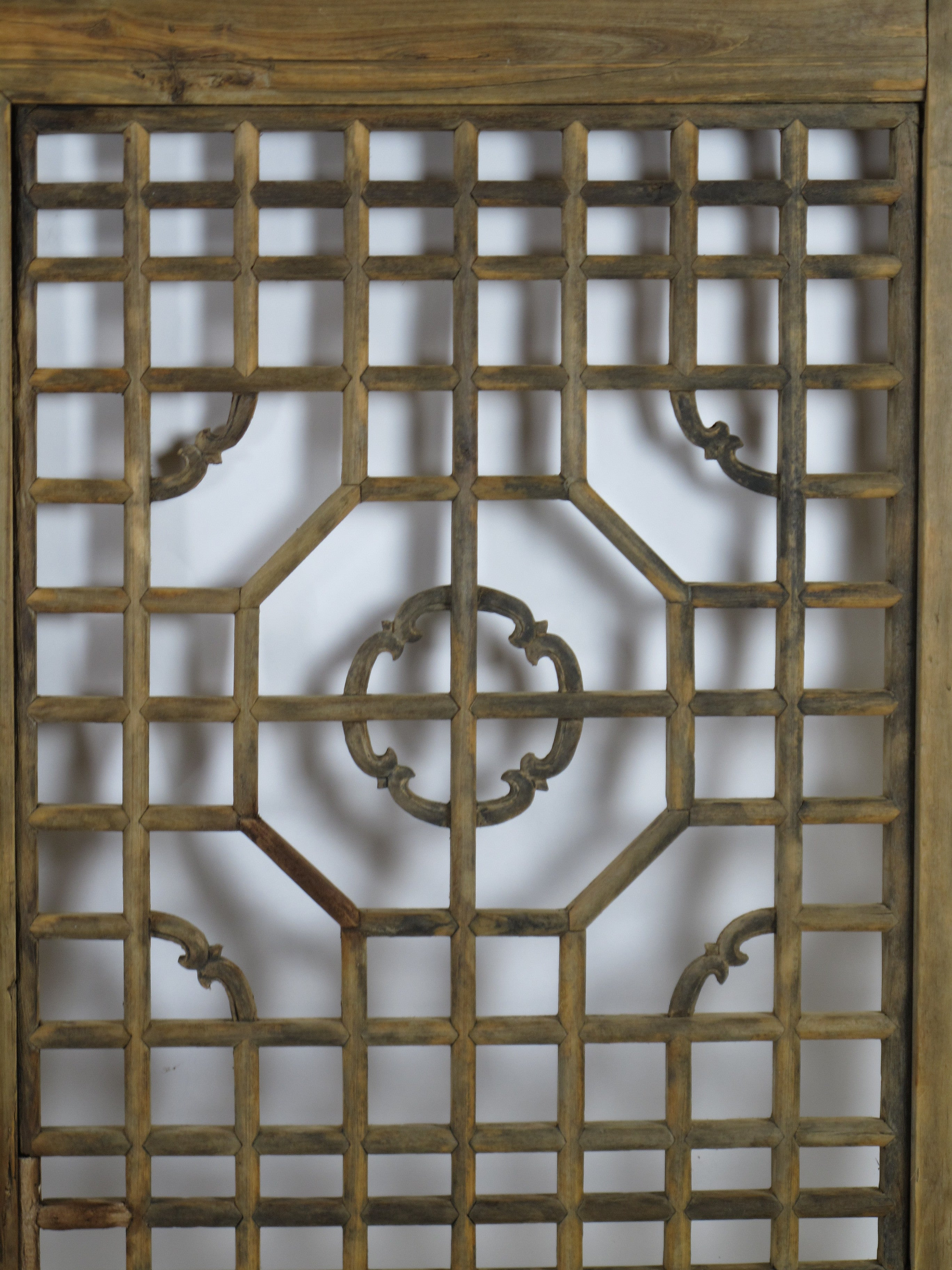 antique wood screen lattice window dyag east