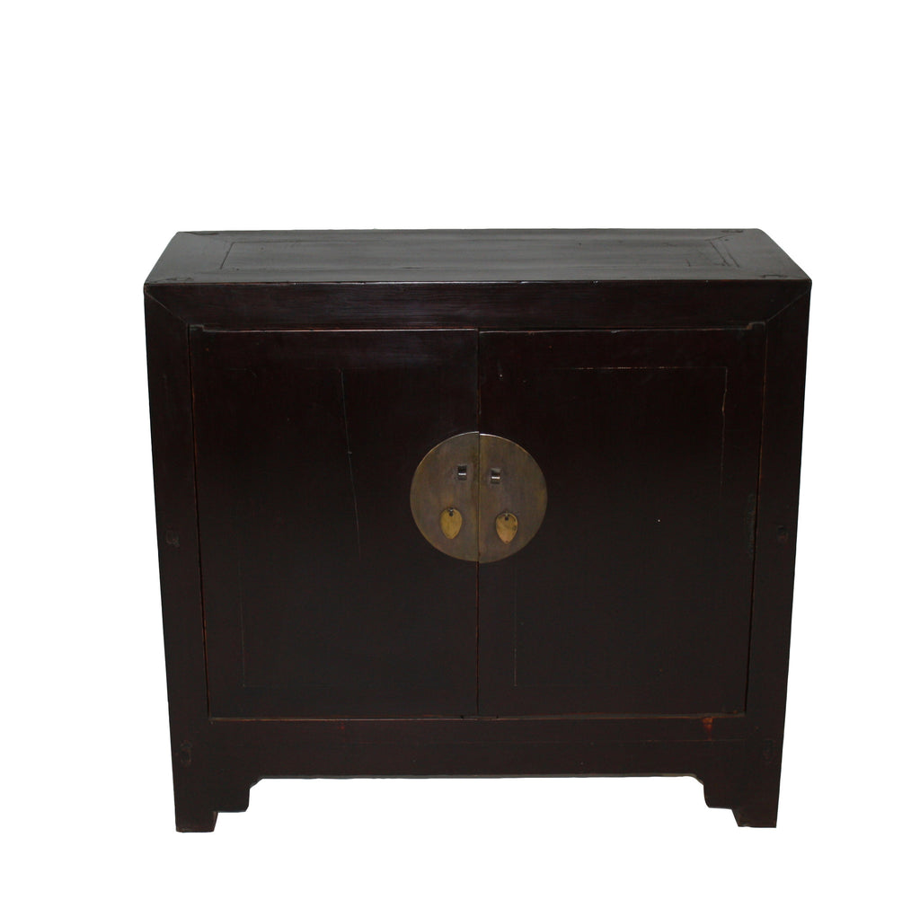z-Two door Two Shelves Reddish Brown Chest - Dyag East