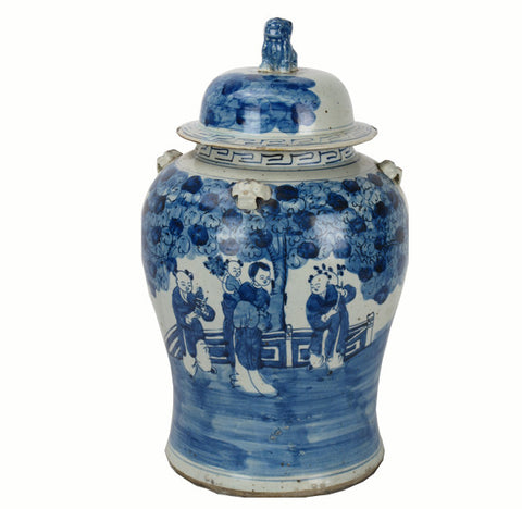 Z-Vintage Blue and White Porcelain Jar 2 - Dyag East