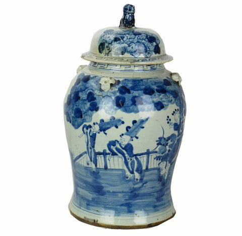 Z-Vintage Blue and White Porcelain Jar 3 - Dyag East