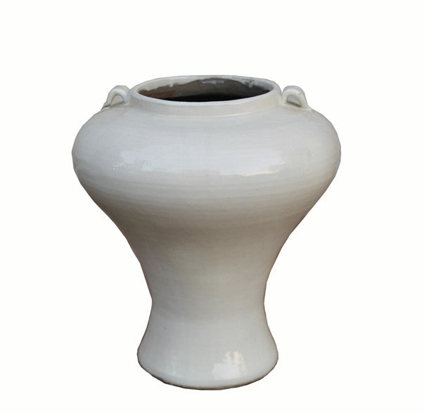 Tall White Ceramic Vase Dyag East