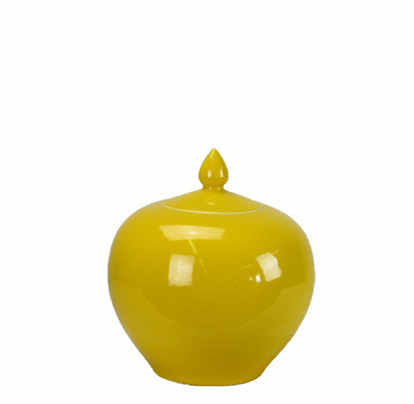 Z-Yellow Melon Porcelain Jar - Dyag East
