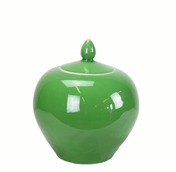 Apple Green Melon Porcelain Jar - Dyag East