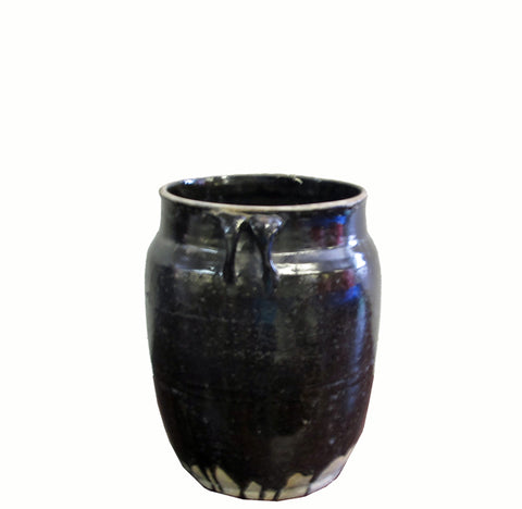 Glazed Black Flower Pot - Dyag East