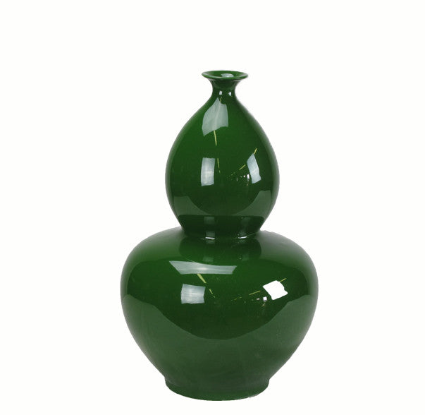 Green Bottle Gourd Porcelain Vase - Dyag East