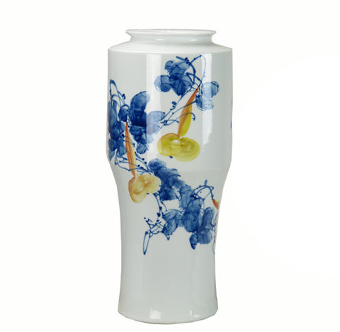 Blue & White Harvest Porcelain Vase - Dyag East
