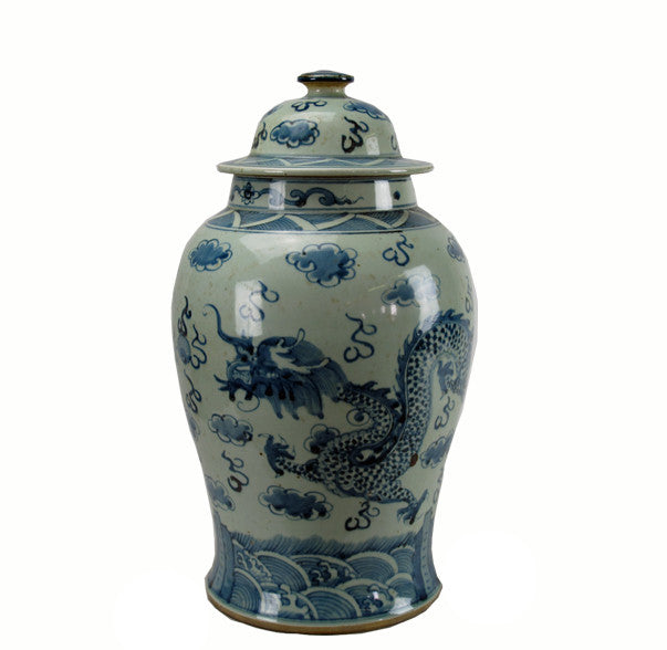 Blue and white Dragon Porcelain Jar - Dyag East