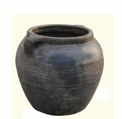 Z-Round Planter Pot with Lion's Handles - Dyag East
