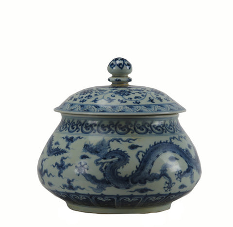 Z-Blue and White Ginger Jar - Dyag East