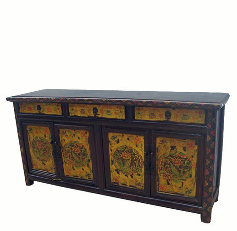 Z-Hand Painted Phoenix Sideboard - Dyag East