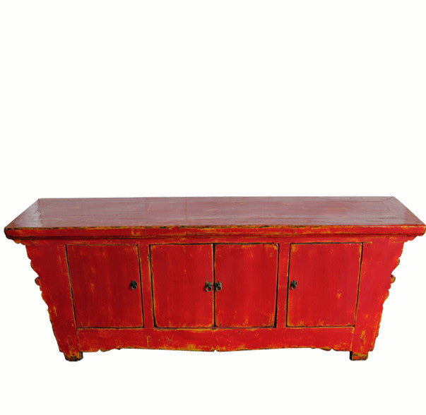 Red Low Media Sideboard - Dyag East