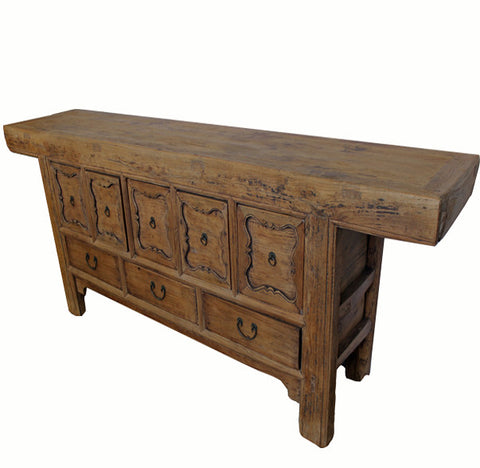 Five-Drawer with Carved Border Console Sideboard - Dyag East