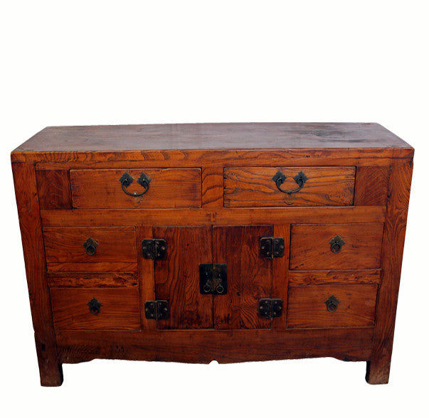 Antique Six Drawer Sideboard Table - Dyag East