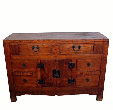 Z-Antique Six Drawer Sideboard Table - Dyag East
