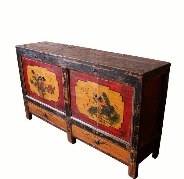 Red Border Door Mongolia Sideboard - Dyag East