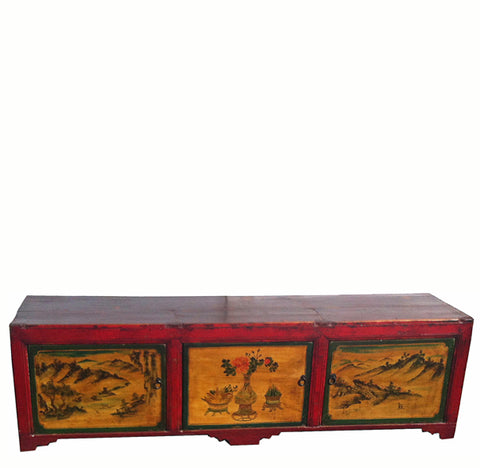 Low Red Top TV Sideboard - Dyag East