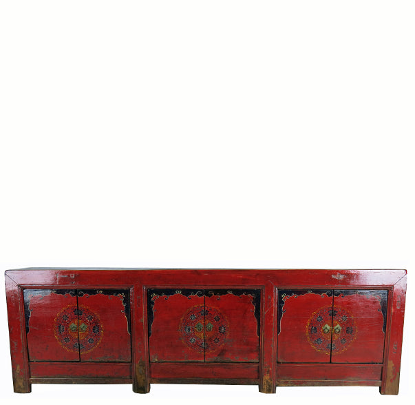Red Medallion Low Sideboard - Dyag East