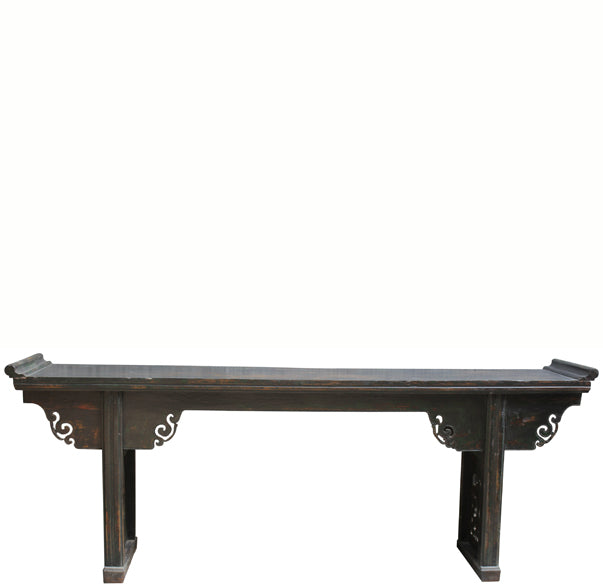 8 Feet Long Antique Chinese Altar Console Table