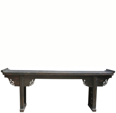 8 Feet Long Antique Chinese Altar Console Table - Dyag East