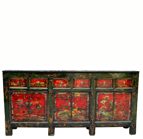 Red Qing Hai Buffet Sideboard - Dyag East