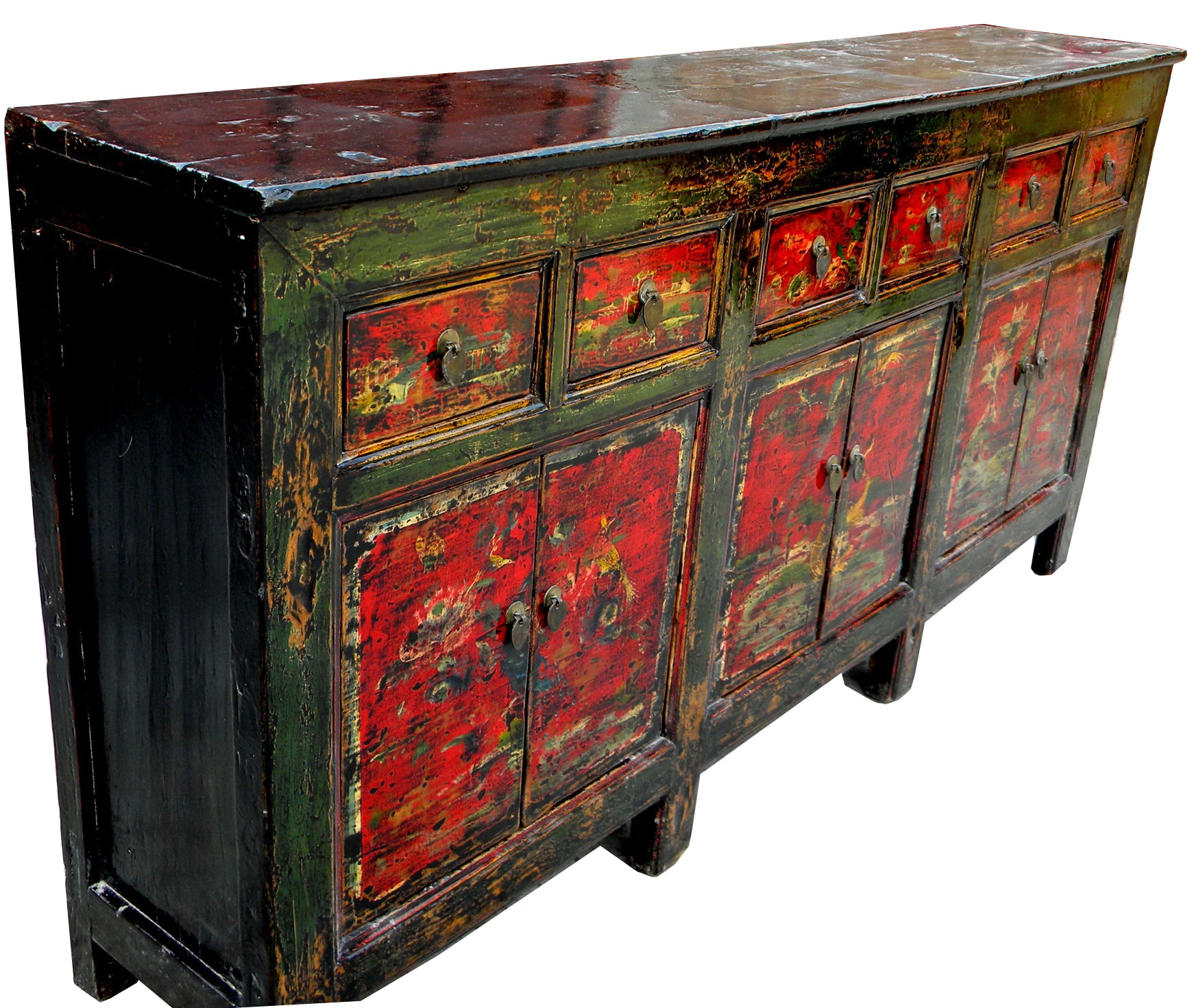 Red Qing Hai Buffet Sideboard – Dyag East